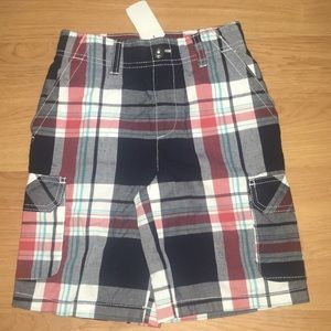 BNWT Sonoma Boys Board Shorts Med 5/6 RWB